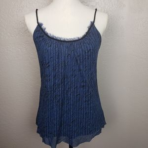 Express Blue Metallic Tank Top Size Medium
